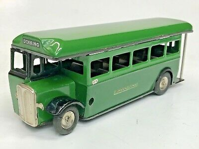 Excellent Original 50sTRI-ANG MINIC Green Line Single Deck Bus Tin Wind Up 7' NR