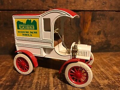 ERTL Replica 1905 Ford's First Delivery Car Metal Advertising Bank Reinbeck IA