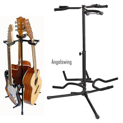 Portable Multifunctional Musician's Gear Triple Guitar Stand Profession New