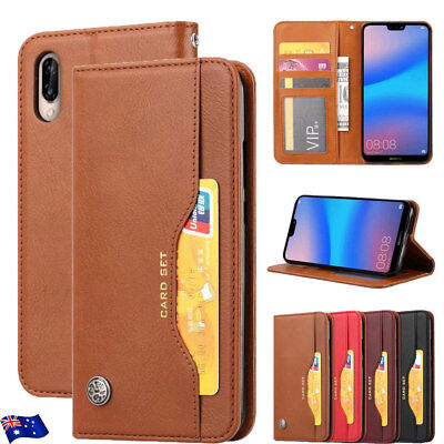 For Huawei Nova 3i 3e 3 Y9 P Smart Premium Leather Magnetic Wallet Case Cover