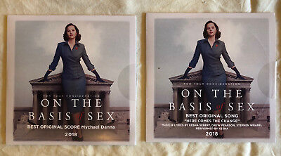 On the Basis of Sex - FYC Score and Song CDs