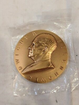 Dwight D Eisenhower Presidential Inauguration Bronze Medal/Paperweight, 3""