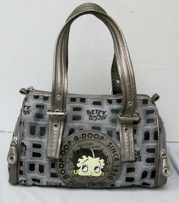 Betty Boop Purse Gray and Black with Betty Boop Since 1930 10in.x 7In.x 3inches