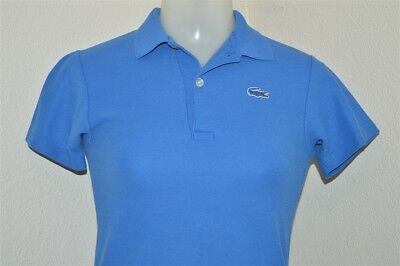 vintage 80s IZOD LACOSTE BLUE ALLIGATOR TENNIS TAILS POLO SHIRT YOUTH MED YM