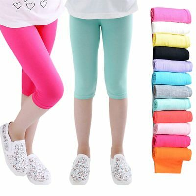 3-10years Girls Knee Length Kid Five Pants Candy Color Children Cropped