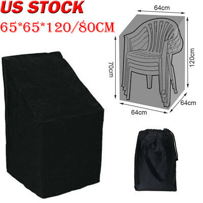 Waterproof Outdoor Stacking Chair Cover Garden Parkland Patio Sofa Furniture US