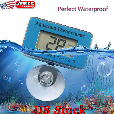 Fish Tank Aquarium LCD Digital Thermometer Submersible Water Temperature Meters