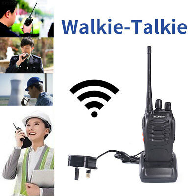 5669 Walkie Talkie UHF 400-470MHZ Portable Ham 2-Way Radio 16CH with UK Charger