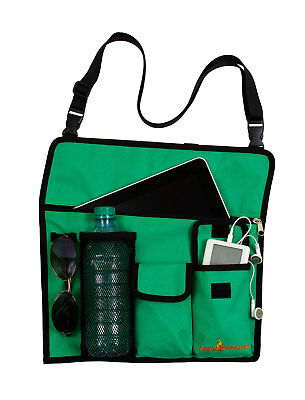 HandyPockets Shoreline Chair Organizer with Carry Strap - Green, New