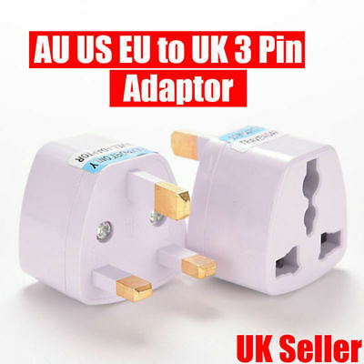 UK Universal Travel Adapter AU US EU to UK 3 Pin AC Power Plug Adaptor Connector