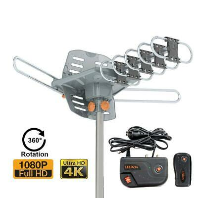 200Miles TV Antenna Amplified Long Range Outdoor HD Digital Signal 1080P UHF VHF