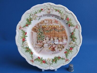 Royal Doulton Brambly Hedge The Entertainment 20.3cm Plate - Ausgezeichneter -