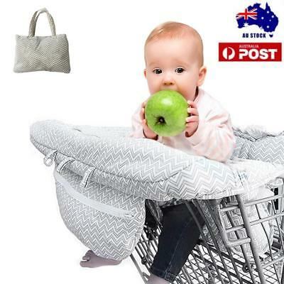 Baby Shopping Trolley Cart Seat Pad Child High Chair Cover Protector Foldable AU