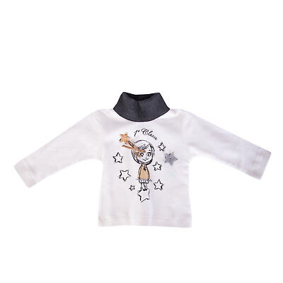 ALVIERO MARTINI 1A CLASSE T-Shirt Top Size 9M Printed Funnel Neck Made in italy