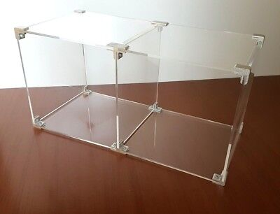 Modular Acrylic Display Unit with Chrome Fittings