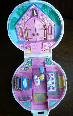 Vintage POLLY POCKET Clam Shell Compact Nancy's Wedding Day Chapel Bluebird 1989