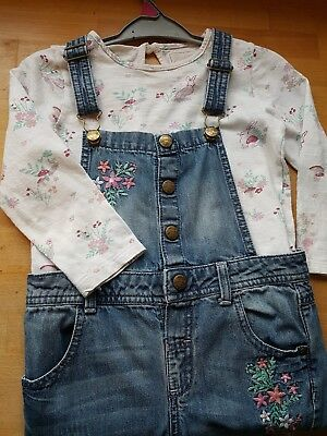 Girls Mantaray Dungarees And Top Set Age 4-5