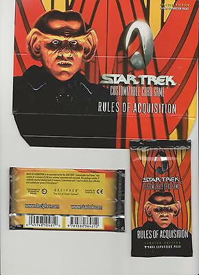 Star Trek Customizable Card Game CCG Rules of Acquisition Booster New limited