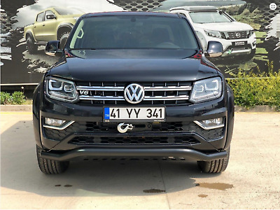 Vw Amarok Black Spoiler Bar Bull Nudge Bar Grill City Guard 2010-2016