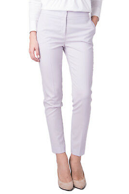 FABIANA FILIPPI Flat Front Trousers Size 40 S Wool Blend Made in Italy RRP €369