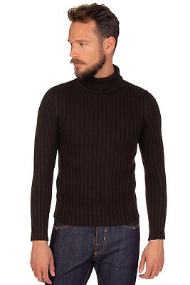 VALDOGLIO Wool Jumper Size 48 / M Long Sleeve Polo Neck Made in Italy RRP €219