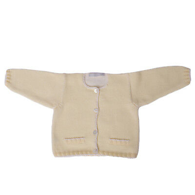 THEO Cardigan Size 6M HANDMADE Button Front Long Sleeve Two Tone