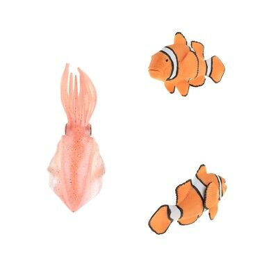 Plastic Clownfish Animal Figure Toys Squid Model Collection Educational Toy