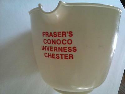 Fraser's Conoco Inverness Chester MT Plastic Advertising Pour Cup