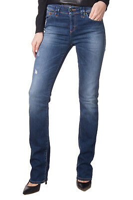 EMPORIO ARMANI JEANS Blue Jeans Size 28 Stretch Distressed Straight Leg RRP €279