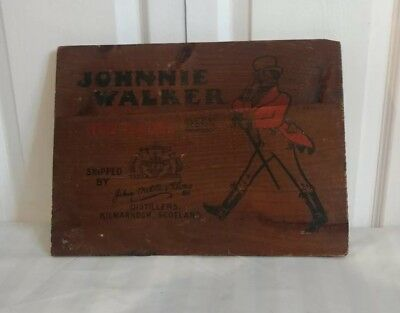 Vintage Johnnie Walker Red Label Shipping Wood Crate Top Nice!!!