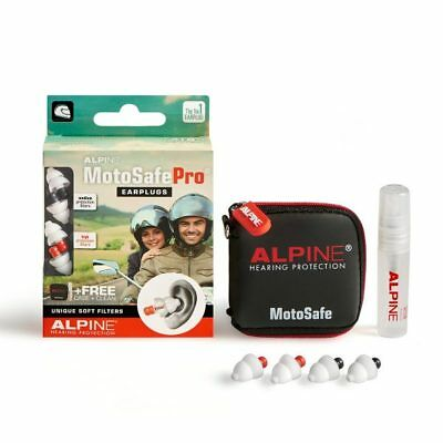 Alpine MotoSafe Pro Race/Tour Motor Sport Hearing Protection Motorcycle Earplugs