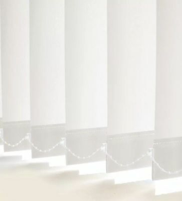 PREMIUM WHITE Made To Measure VERTICAL BLINDS (Complete Blinds)