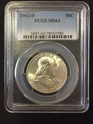1962-D PCGS MS64 Franklin Silver Half Dollar
