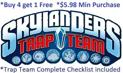 *Skylanders Trap Team Complete Your Set with Checklist* Wii U PS4 Xbox 360 One👾