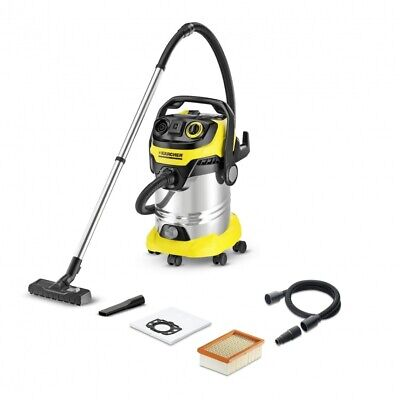 Wet & Dry Vacuum Cleaner 30L Stainless Steel Premium Karcher WD6 1.348-275.0