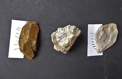 Very Rare Aurignacian Upper Palaeolithic Flint Tools From France