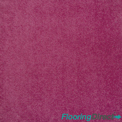 Hot Pink Felt Back Carpet - Girls Bedroom - Any Size Stain Free Twist - CHEAP