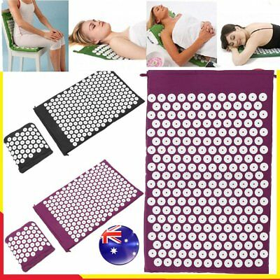 Acupressure Massage Pillow Mat Yoga Bed Pilates Nail Needle Pressure Shakti NeH6