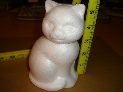 Low Density Polystyrene  cat  for crafting 13.5 cm approx