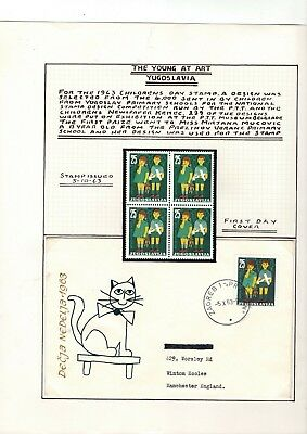 1963 Yugoslavia - Children's Day Stamps & Fdc Set Fdc From Collection Rf68