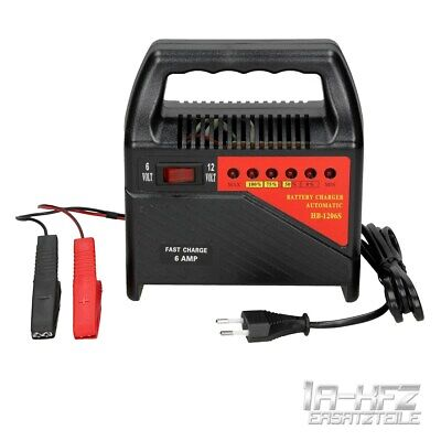 Automatic electronic car battery charge 6V 12V 6A van motorbike battery charger