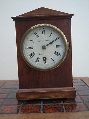 Oak Cased, architectural style mantle clock made by Morath Bros. L'pool, c.1922