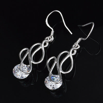 12pairs Wedding Popular Curve Earrings silver Plated Elegant Lady Gift Jewelry
