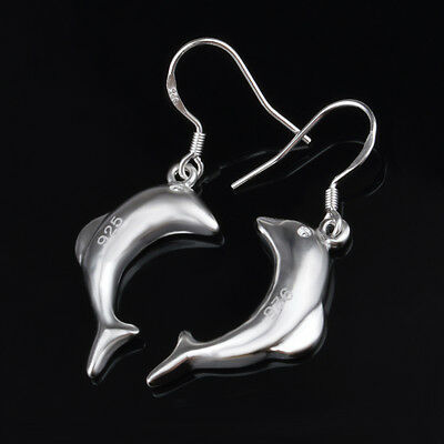12 pairs Wedding Dolphin Earrings silver Plated Elegant Women Lady Gift Jewelry