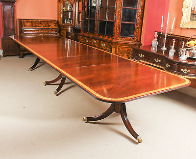 "Vintage 15ft 6""  Regency Style Arthur Brettt  Dining Table Mid 20th C"