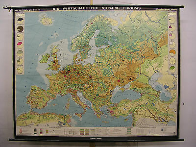 Schulwandkarte Wall Map School Map Role Map Economy Use Europe 207x161