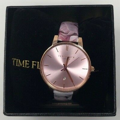 02945027cd0f Ted Baker TB10030695  Kate  Patent Leather Floral Strap Women s 40mm Watch