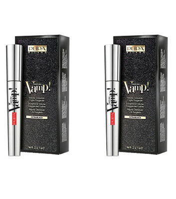 2pcs PUPA VAMP LIMITED EDITION Mascara Ojos 100 extra black 9ml NUEVO make up