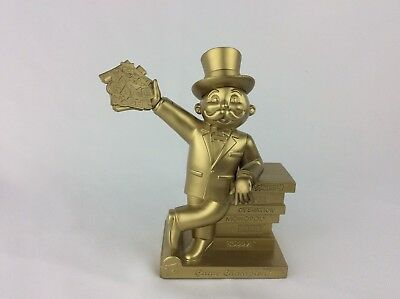 2009 Toys R Us Hasbro Family Game Night Mr. Monopoly Collectible Gold Trophy