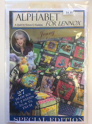Jenny Haskins Designs Special Edition A Quilt - Alphabet For Lennox